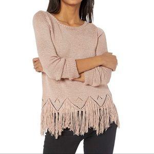 Revolve BB Dakota Hang Loose Fringe Sweater